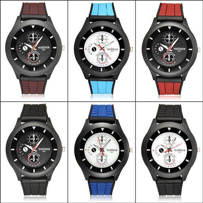 Pánské silikonové hodinky - 5 barevných variant 1