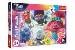 Puzzle maxi 24 dílků Hudební svět Trollů/Trolls world tour 60x40cm v krabici 40x27x4,5cm RM_89114318