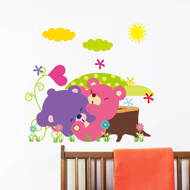 Kolorowa naklejka ze zwierzętami 1