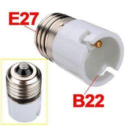 Adapter żarówki z gwintu żarówki E27 na B22