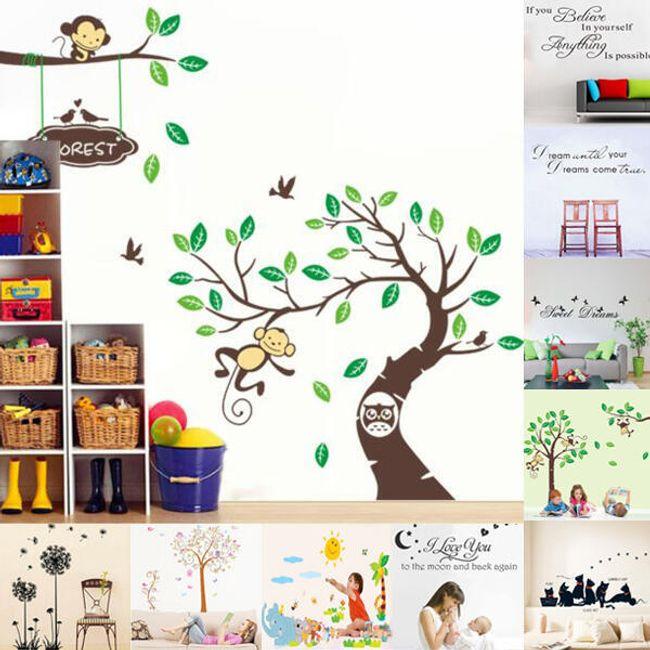 Fali dekoráció - vidám majmok 1