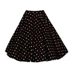Damska spódnica vintage w grochy   - 2 kolory