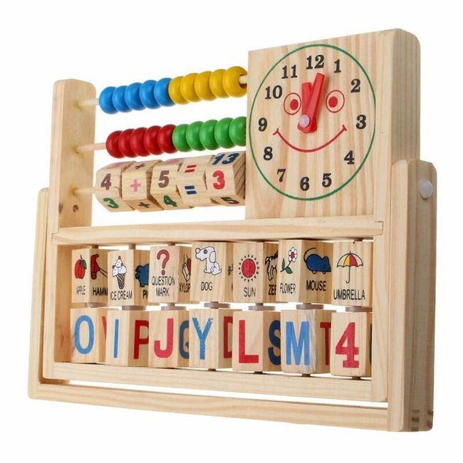 Tablă educativă din lemn pentru copii 1