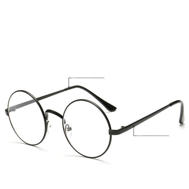 Okrogla očala s prozornimi lečami - 4 barve 1
