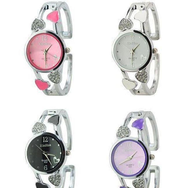 Elegancki damski zegarek z serduszkami - oferujemy cztery kolory 1