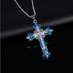 Pánský náhrdelník s křížkem - 4 barvy