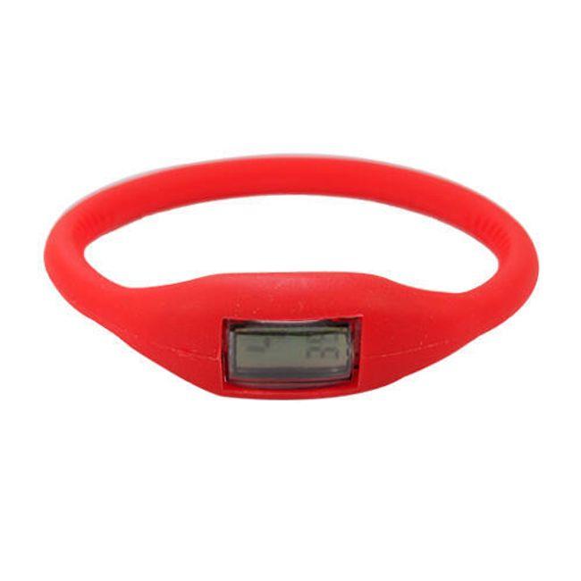 Cyfrowy silikonowy zegarek ION - Czerwony 1