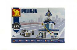 Stavebnica Dromader Polícia Stanica + Auto 279ks v krabici 32x22x5cm RM_23292897