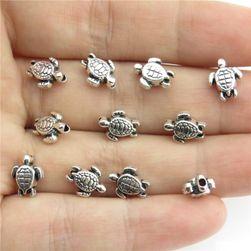 Korálky ve tvaru želvy - 80 kusů
