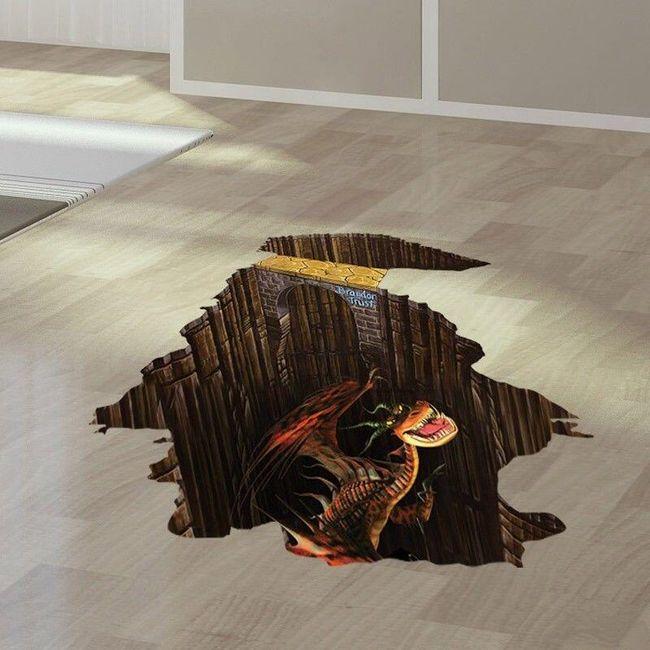 3D padló matrica sárkány 1