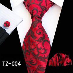 Cravată pentru bărbați, batistă și butoni GNF19