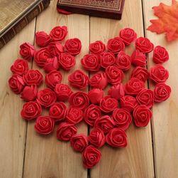 Sztuczne kwiaty róży - 50 sztuk