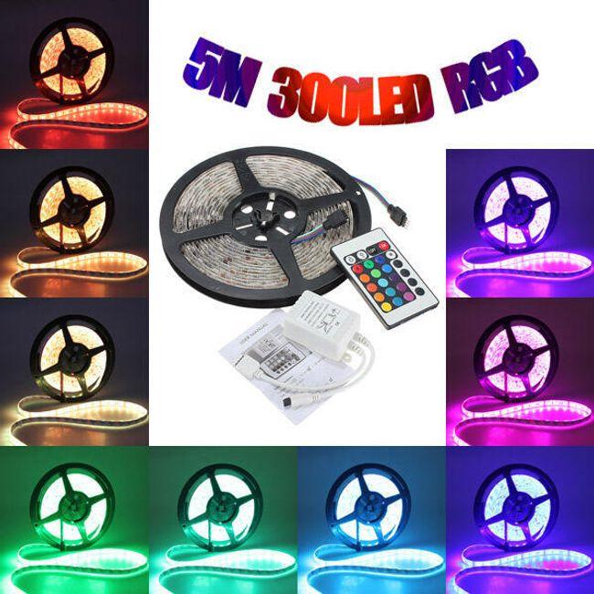 LED RGB лента с дистанционно управление - 5 m 1