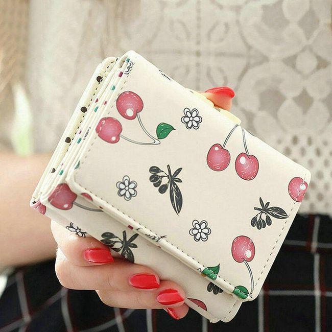 Dámská peněženka s třešničkami - 4 barvy 1