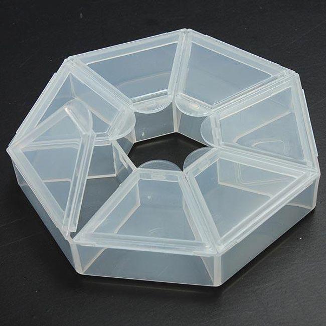 Műanyag doboz kis tárgyakhoz - 7 rekesz 1