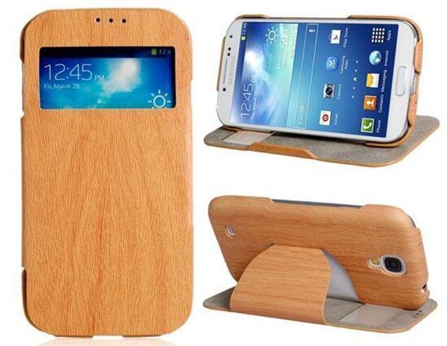 Ochranné pouzdro pro Samsung Galaxy S4 - dřevěný vzor, 3 barevné provedení 1