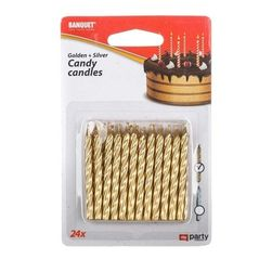 Rođendanske svećice MY PARTY Candy 24 ks, zlatna i srebrna PD_1188388