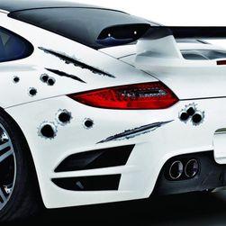 3D nalenpica za auto 23 x 29 - lažne rupe od metaka