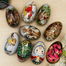 Box ve tvaru vajíčka s různými motivy