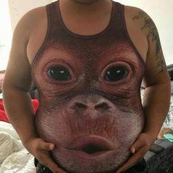 Dowcipny podkoszulek z motywem orangutana