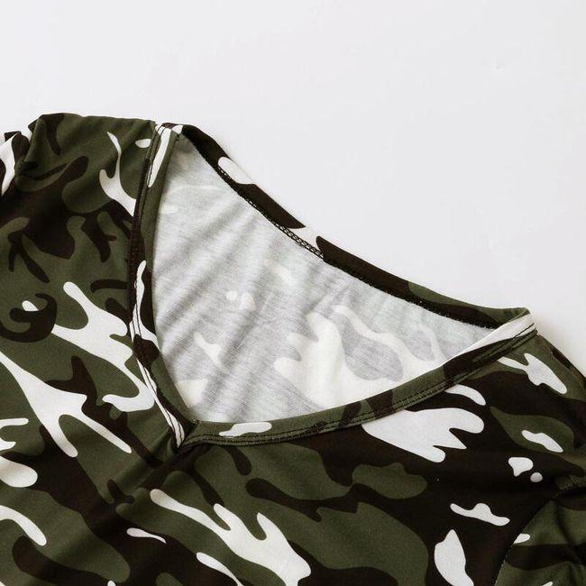 Rövid ujjú álcázási ruha - 2 szín