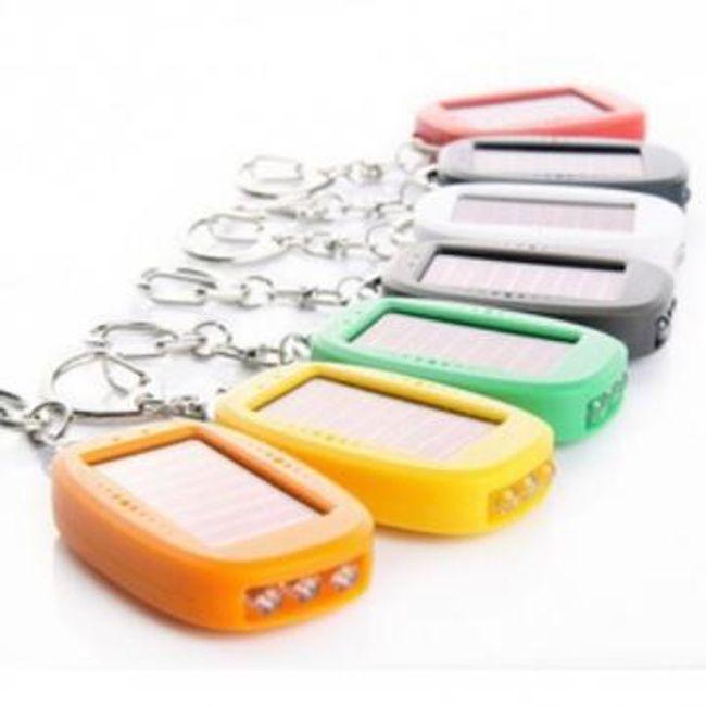 Mini solární baterka - přívěsek na klíče 1