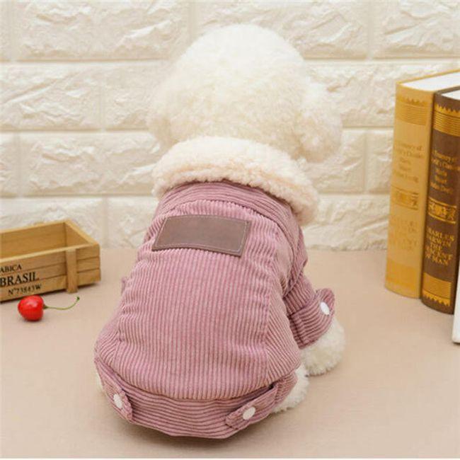 Костюм для собаки из вельвета с мехом- 2 расцветки 1