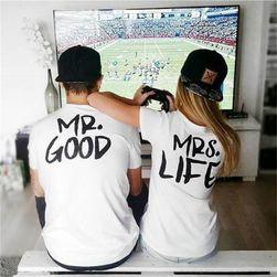 Koszulki MR. GOOD i MRS. LIFE dla par