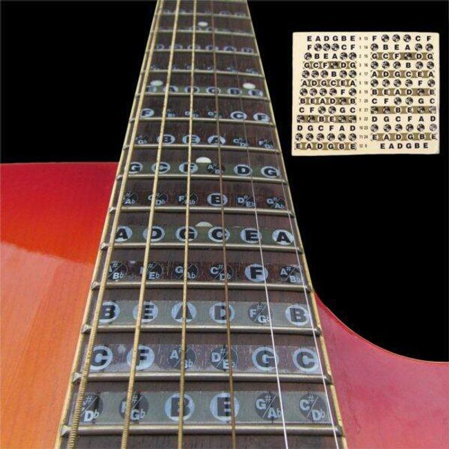 Samolepilni akordi za kitaro - za začetnike 1