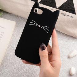 Carcasă pentru iPhone cu pisică - 4 culori