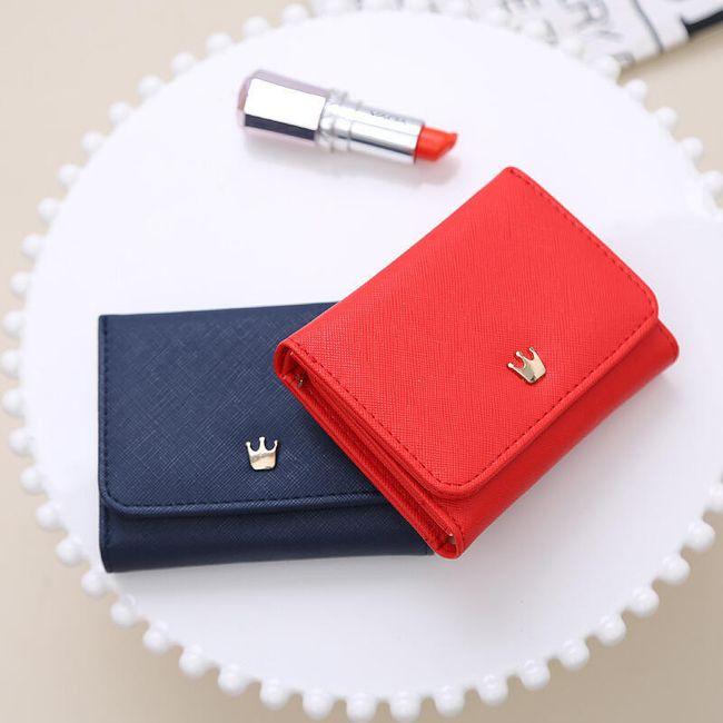 Női pénztárca mini koronával - különböző színekben