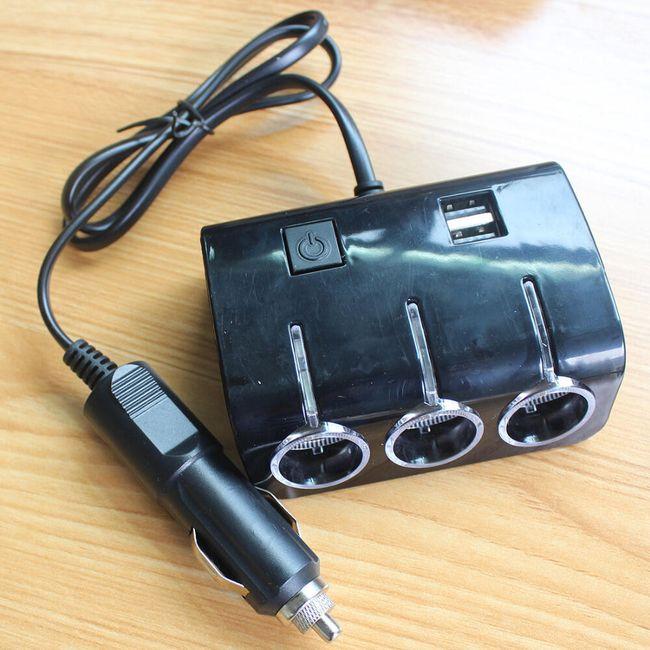 Razdelilnik za avtomobilsko vtičnico z USB in osvetlitvijo 1