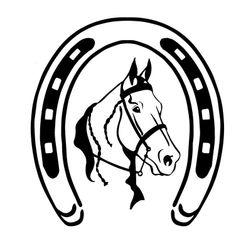 Nalepnica za automobil - konj sa potkovicom