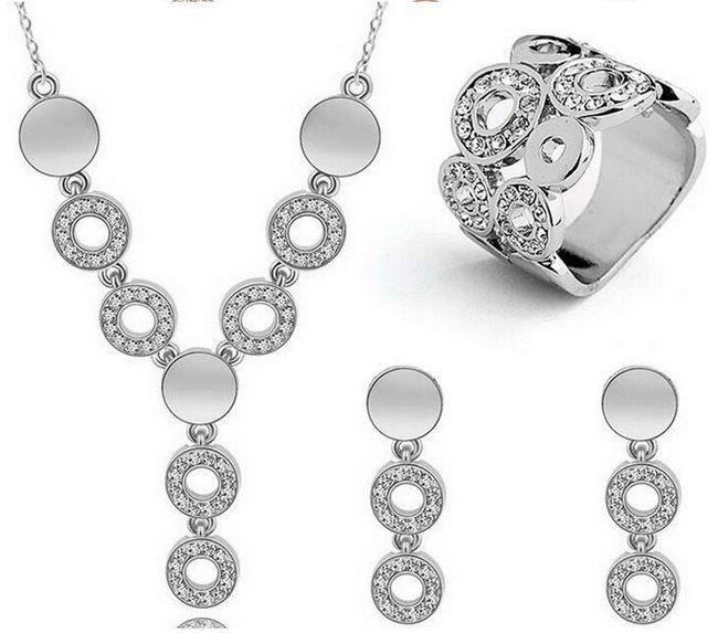 Sada šperků - náhrdelník, náušnice, prstýnek 1