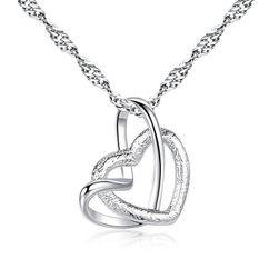 Ogrlica sa dva srca