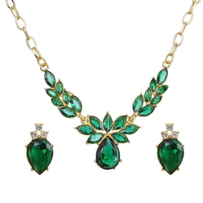 Elegantní sada šperků - 5 barev 1