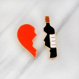 Unisex broszka Wine