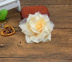 Trandafiri decorativi din material textil - 10 bucăți