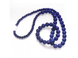 Otroška ogrlica in zapestnica - komplet - temno vijoličasti TK_NK011-9