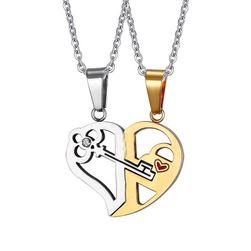 Romantična ogrlica za pare Srebrna+zlata