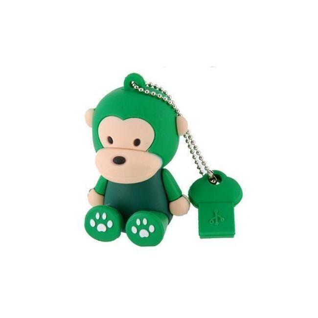 4GB Flashdisk s motivem zelené opičky 1