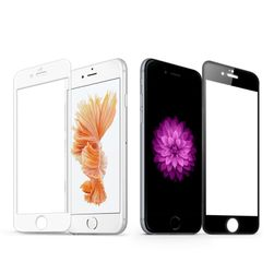 Prosojno zaščitno kaljeno steklo za iPhone - 2 barvi