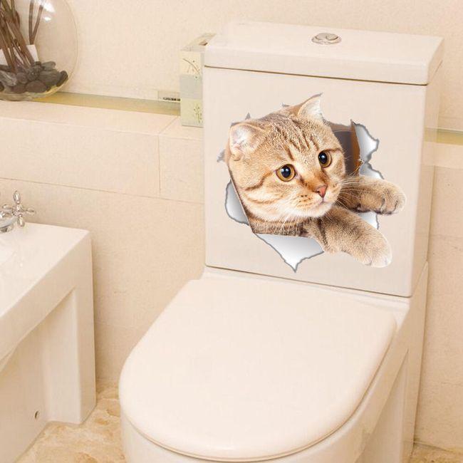 3D nalepka za stranišče - živali 1