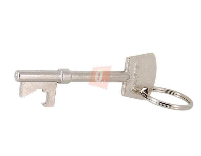 Otvírák klíčenka ve tvaru klíče - stříbrná barva 1