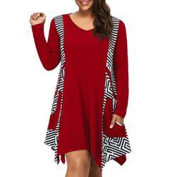 Dámské šaty s dlouhým rukávem Marwen Červená - velikost 9