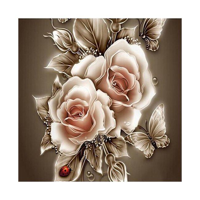 5D картина с розами  1