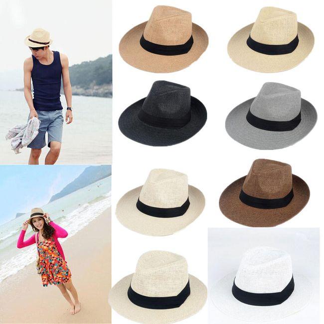 Шляпа с лентой, унисекс  1