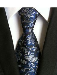 Cravata colorata cu model floral - 20 variante