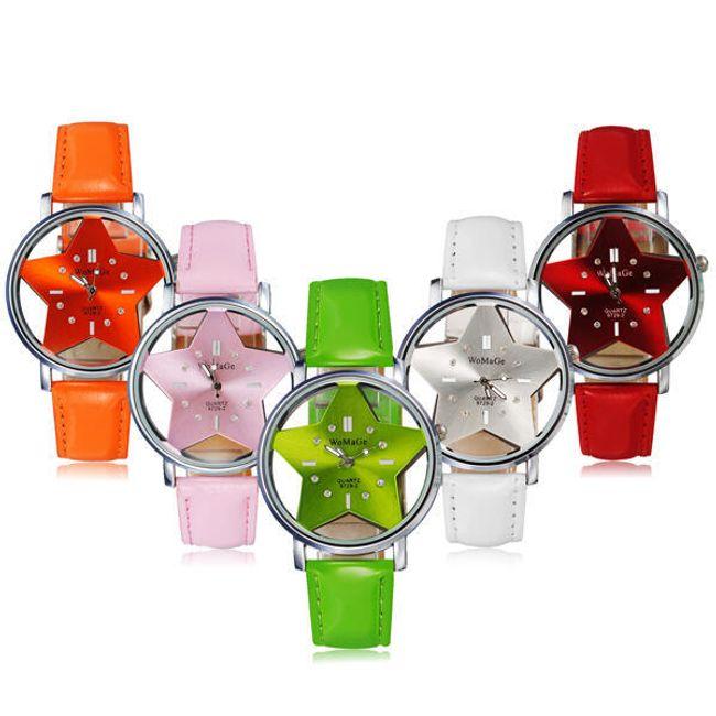 Дамски часовник WoMaGe със циферблат в дизайн на звезда 1