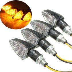 Set de 4 indicatoare LED cu 15 LED-uri pentru motocicletă